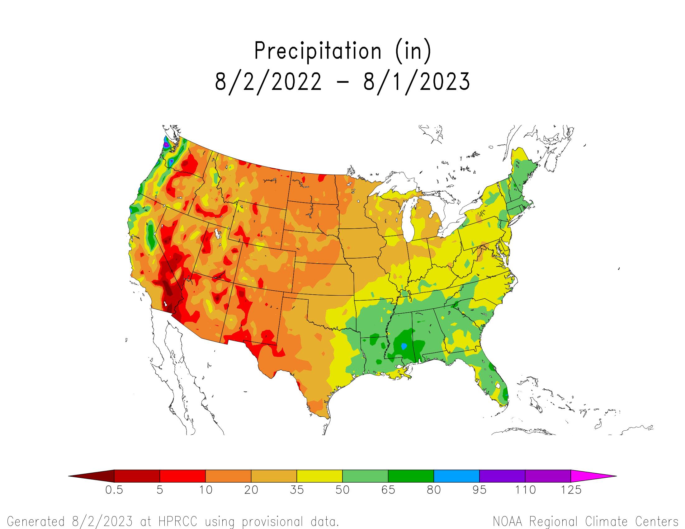1-year Precipitation