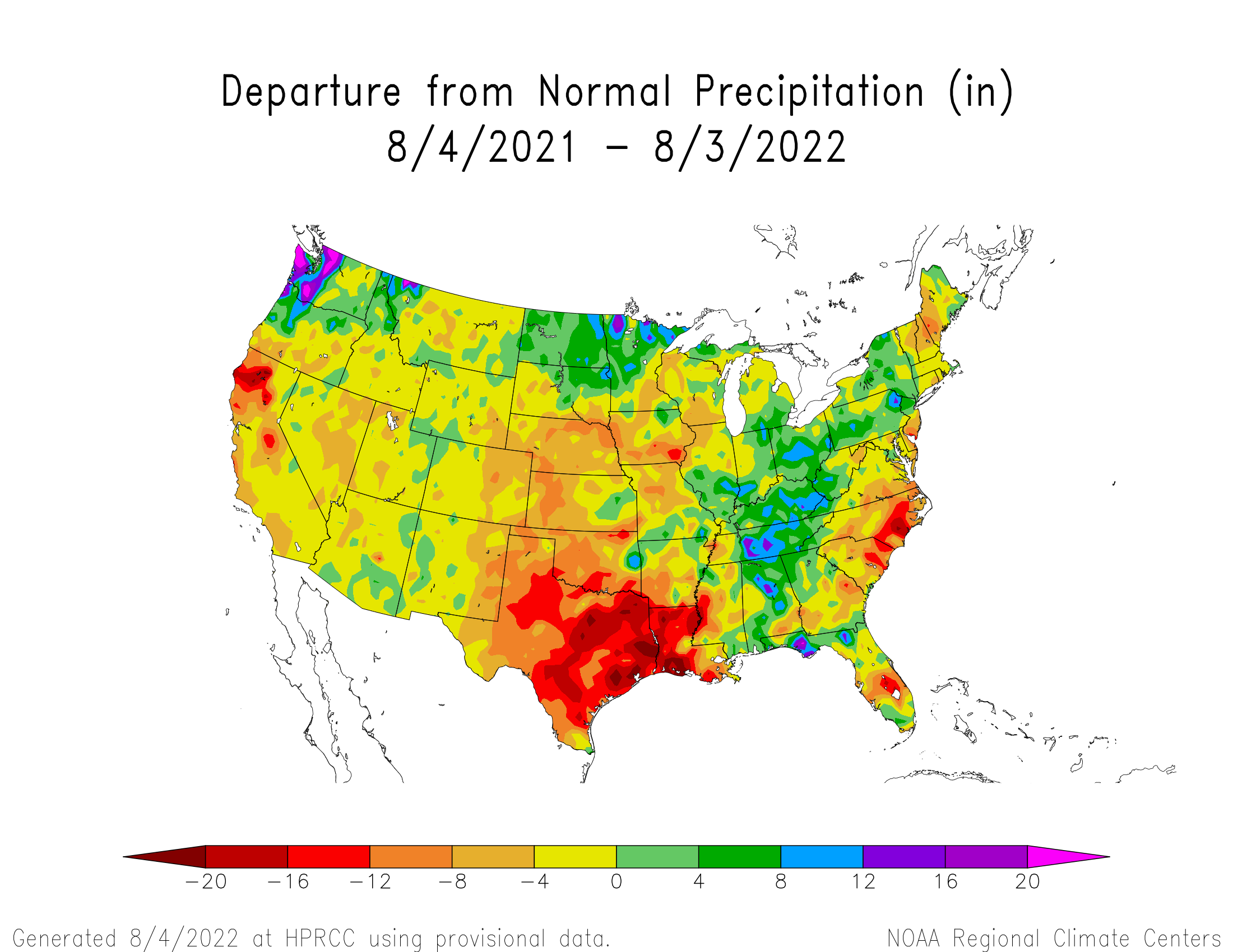 1-year Precipitation Departure from Normal