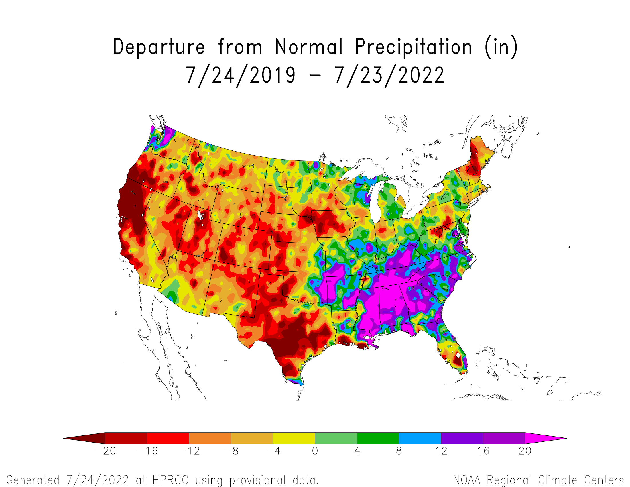 3-year Precipitation Departure from Normal