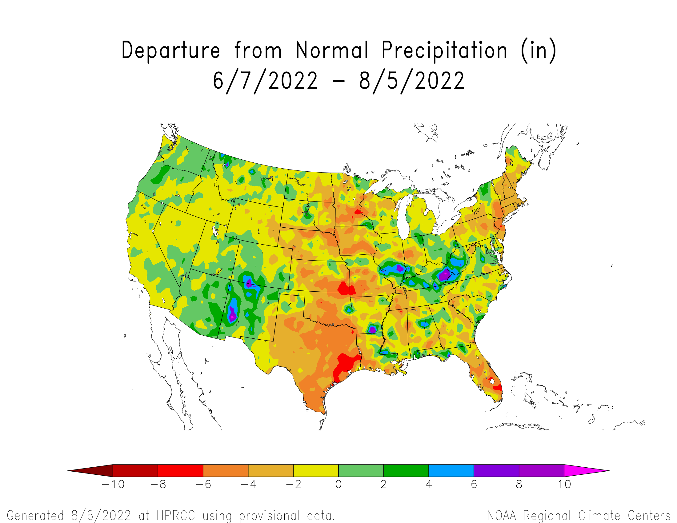 60-day Precipitation Departure from Normal