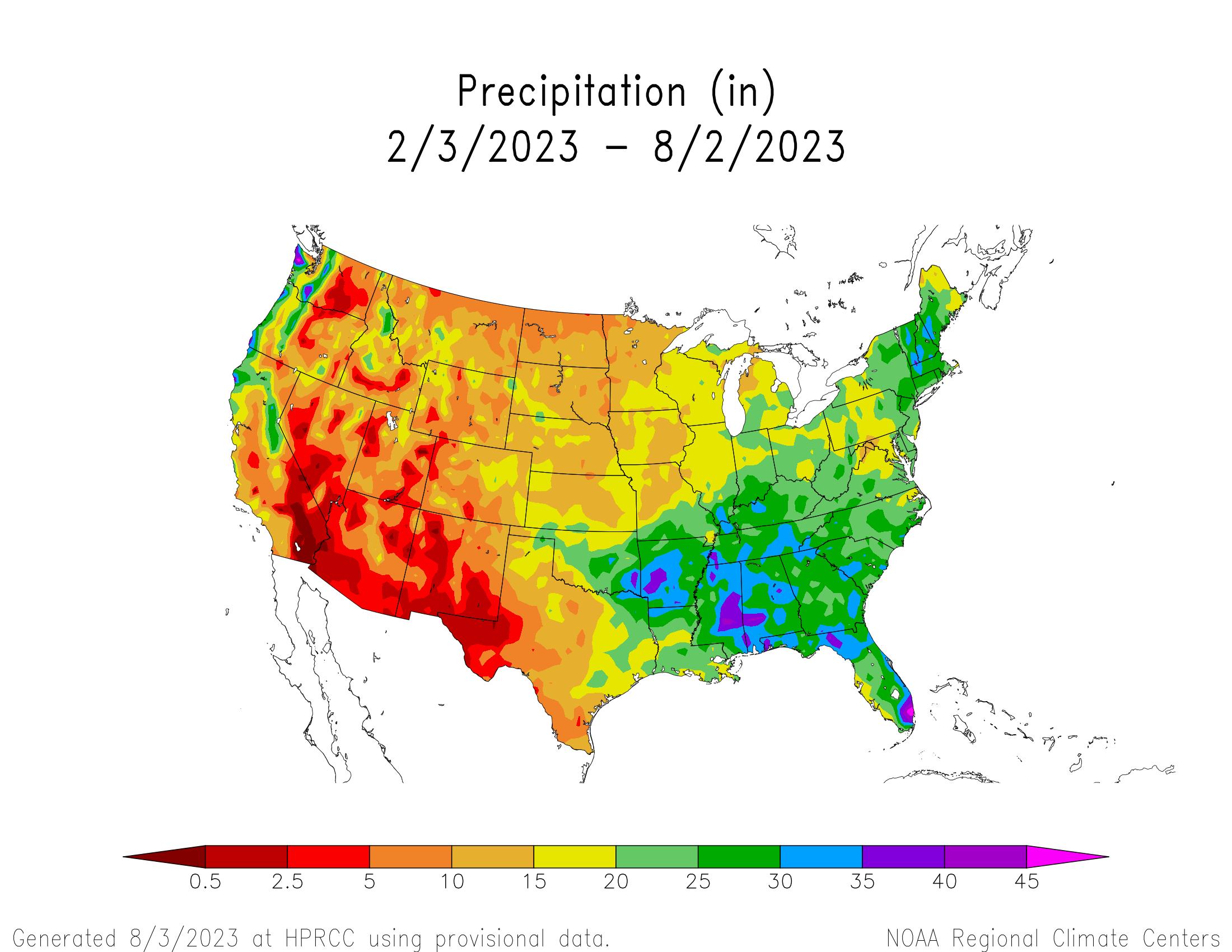6-month Precipitation