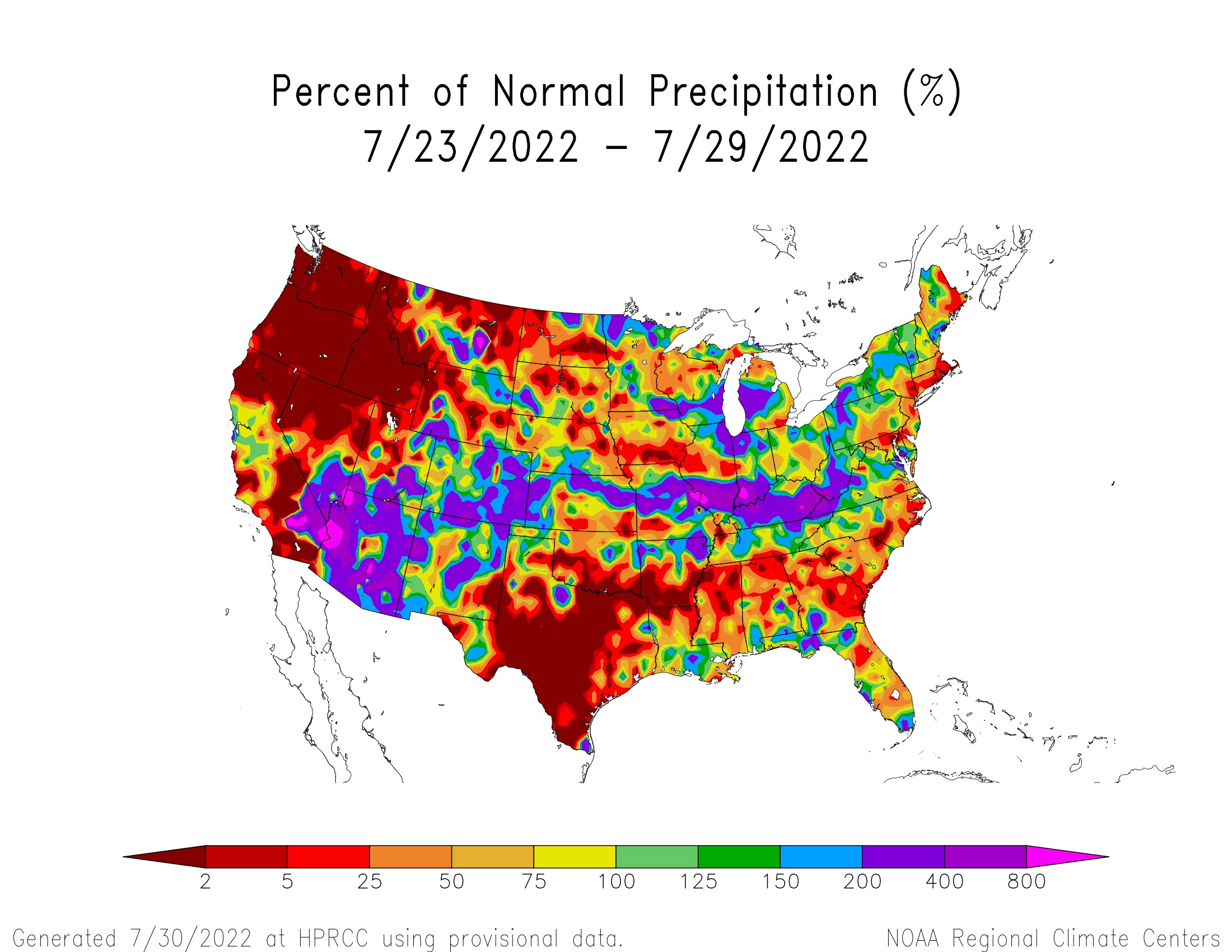 precipitation % normal