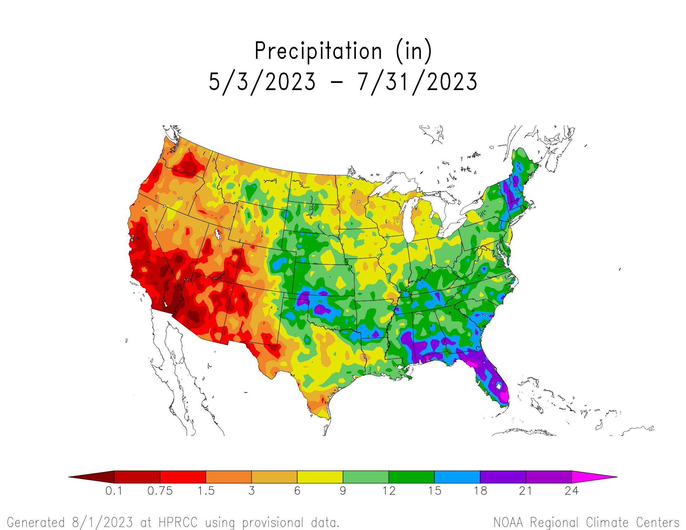 90-day Precipitation