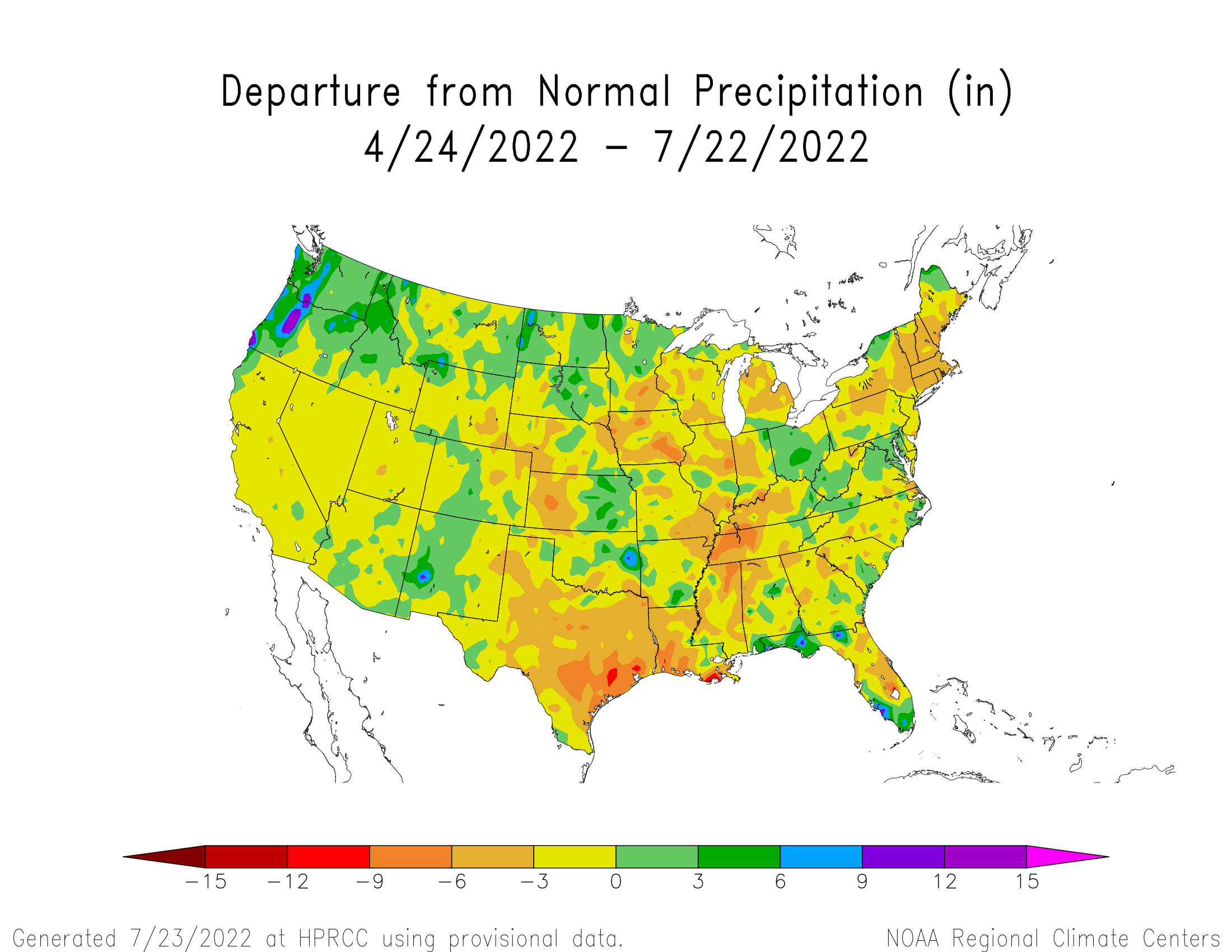 90-day Precipitation Departure from Normal