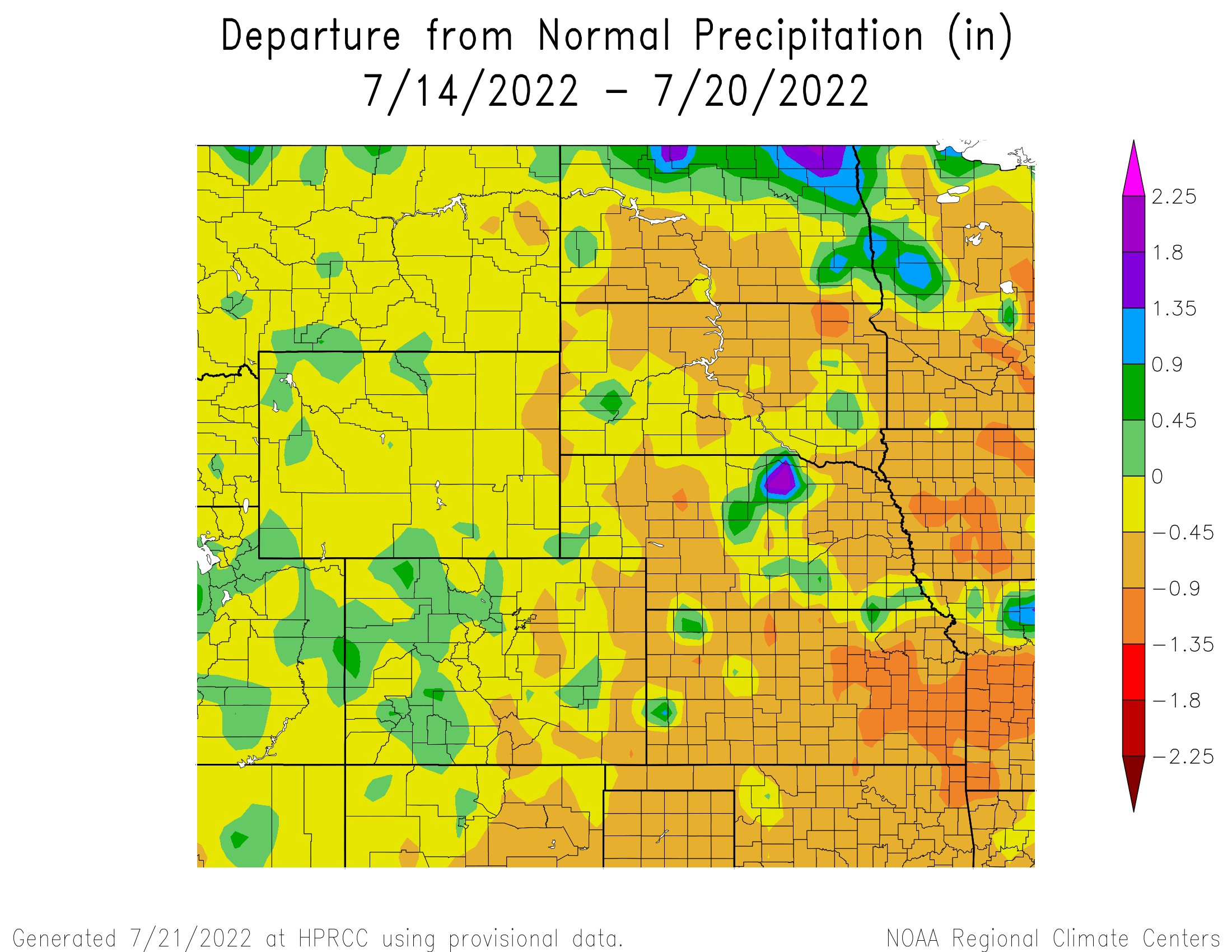 7-Day Departure from Normal Precipitation