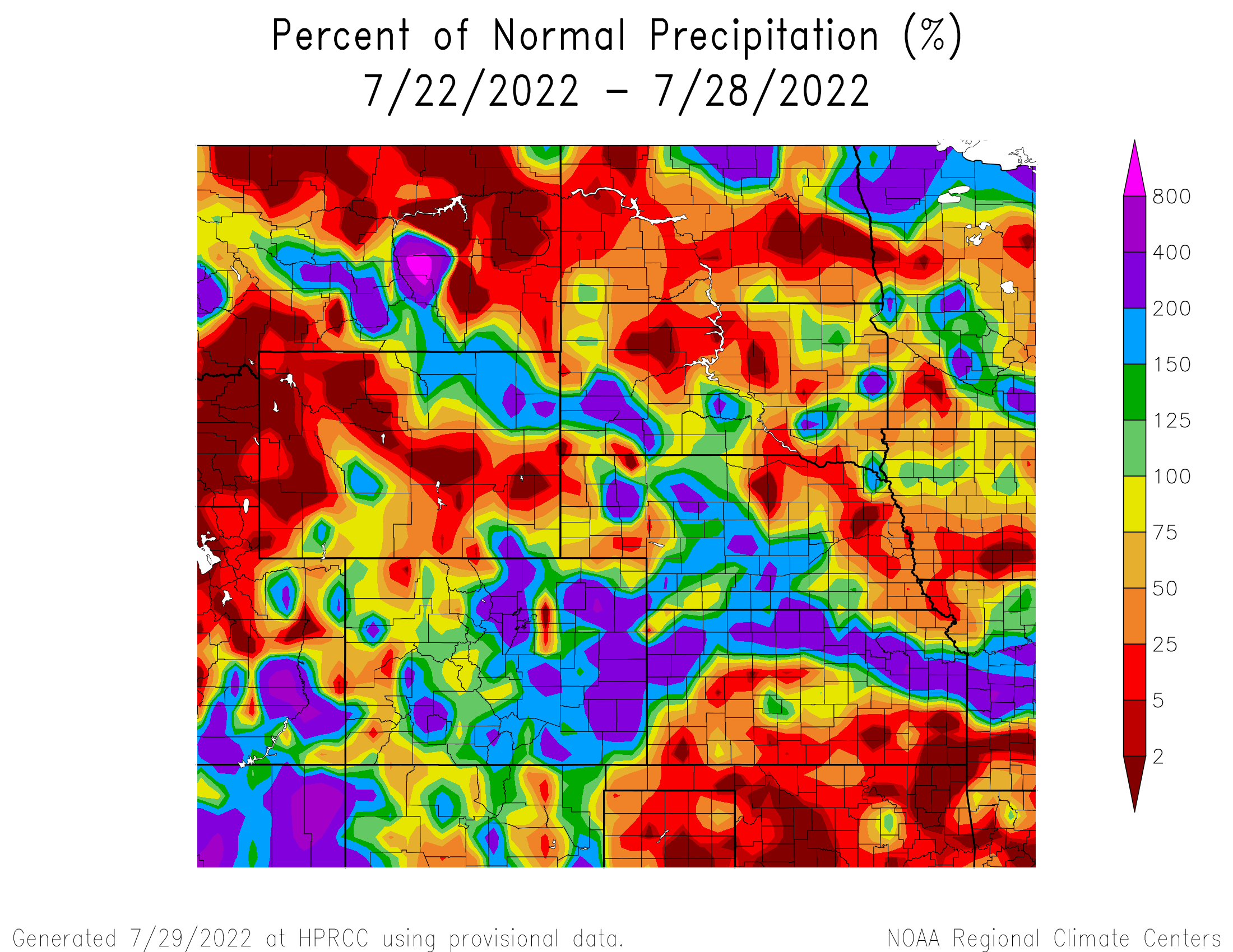 7-day Precipitation Anomaly - High Plains
