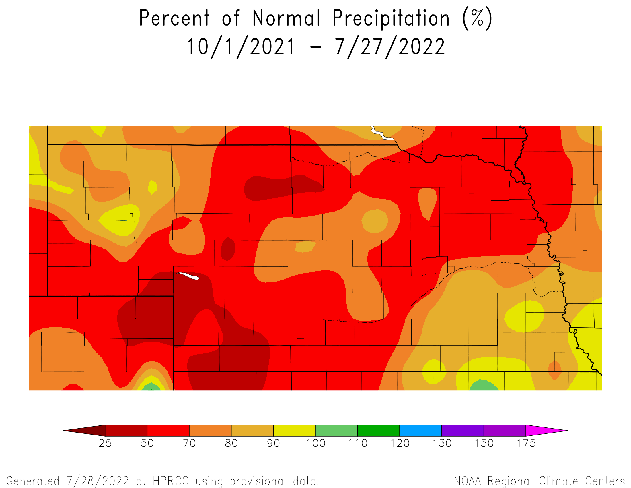 Image of Percent of Normal Precipitation for the Water Year