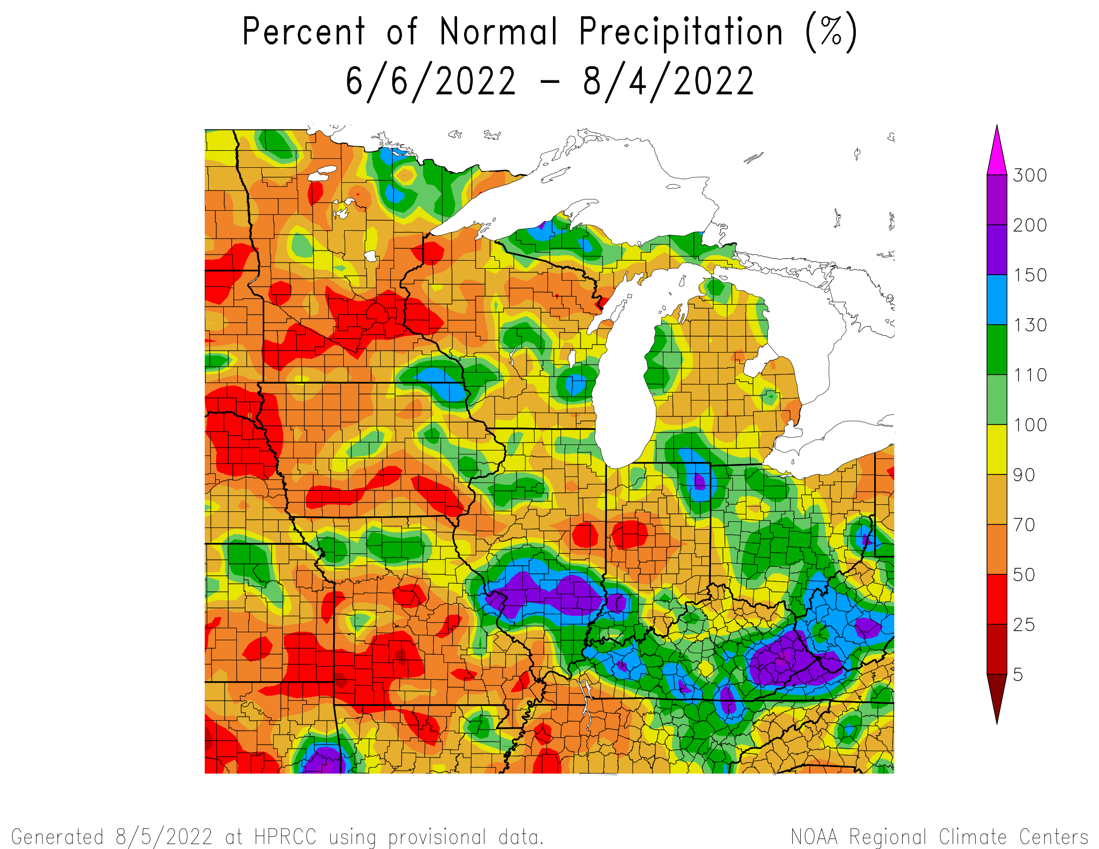 60 Day Percent of Mean Precipitation