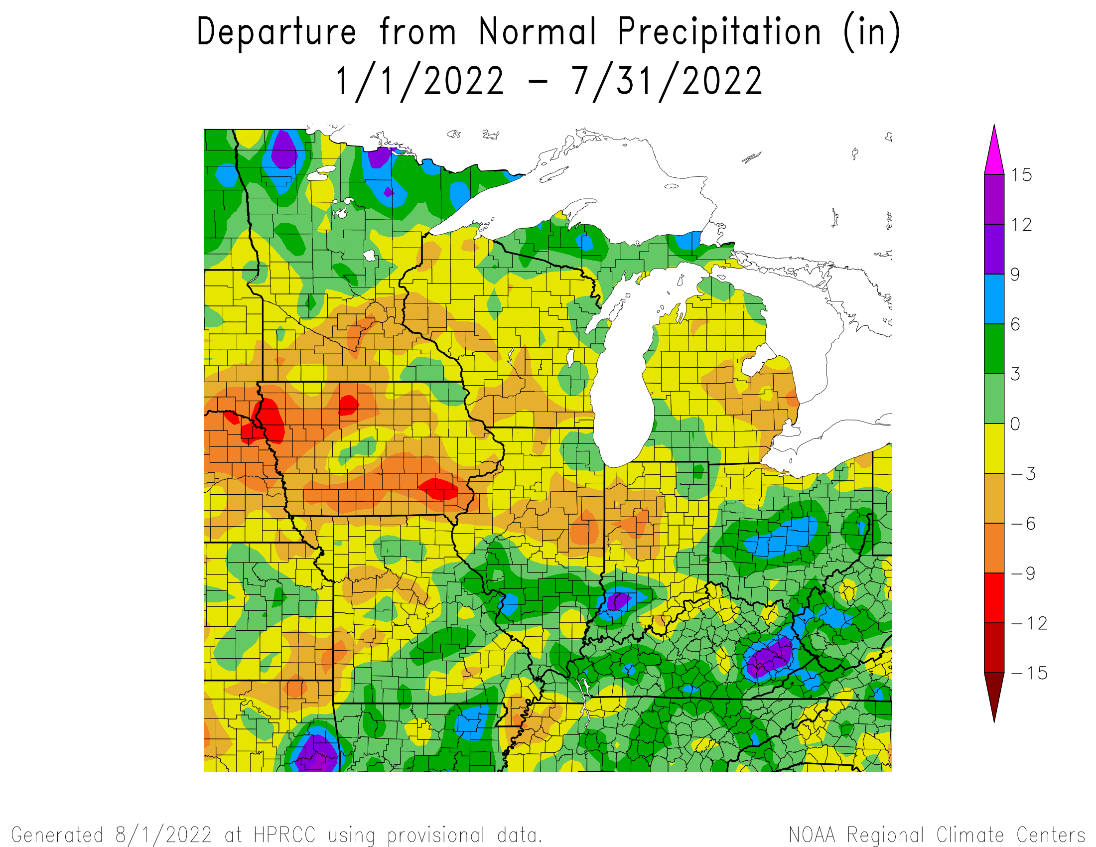 Year-to-Date Precipitation Departure