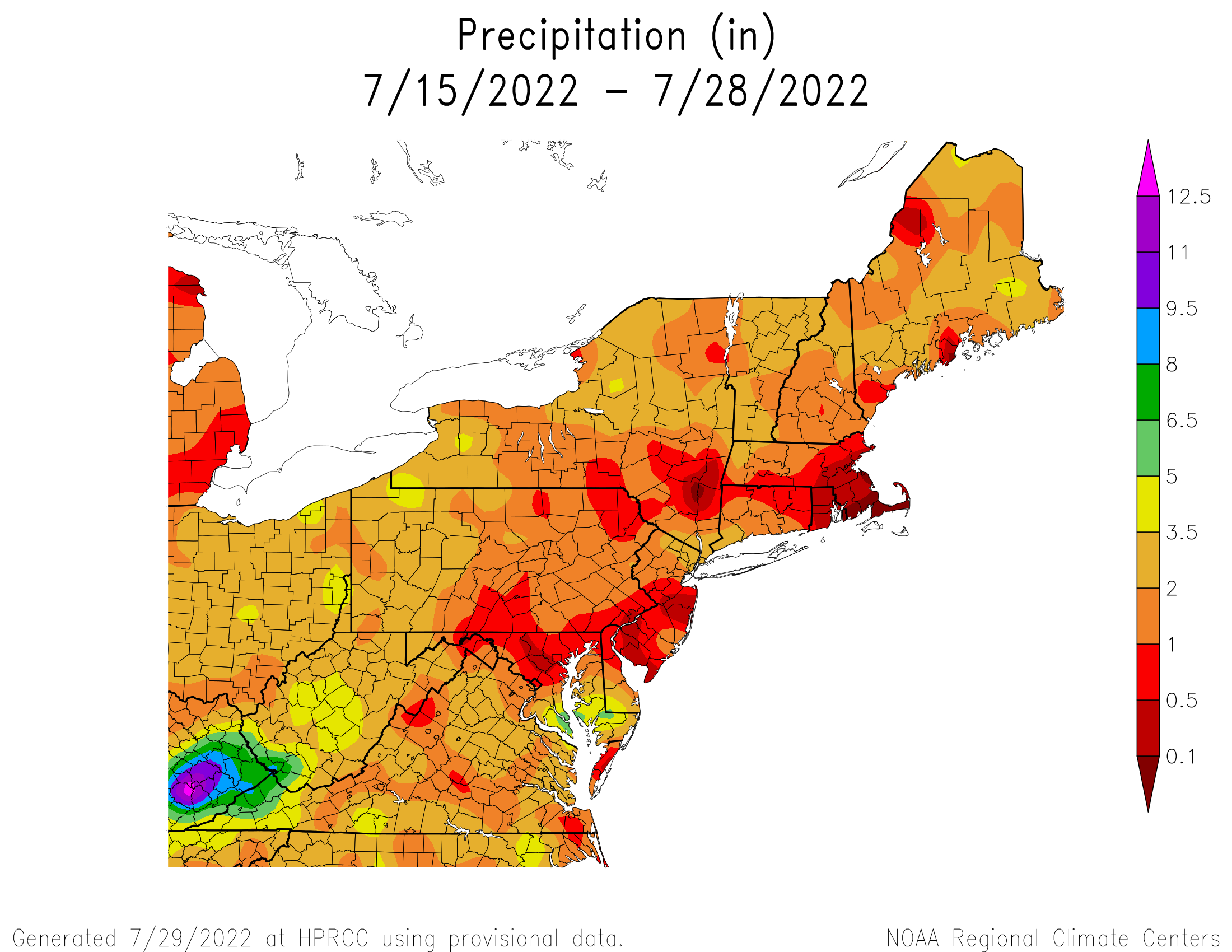 14-Day Total Precipitation
