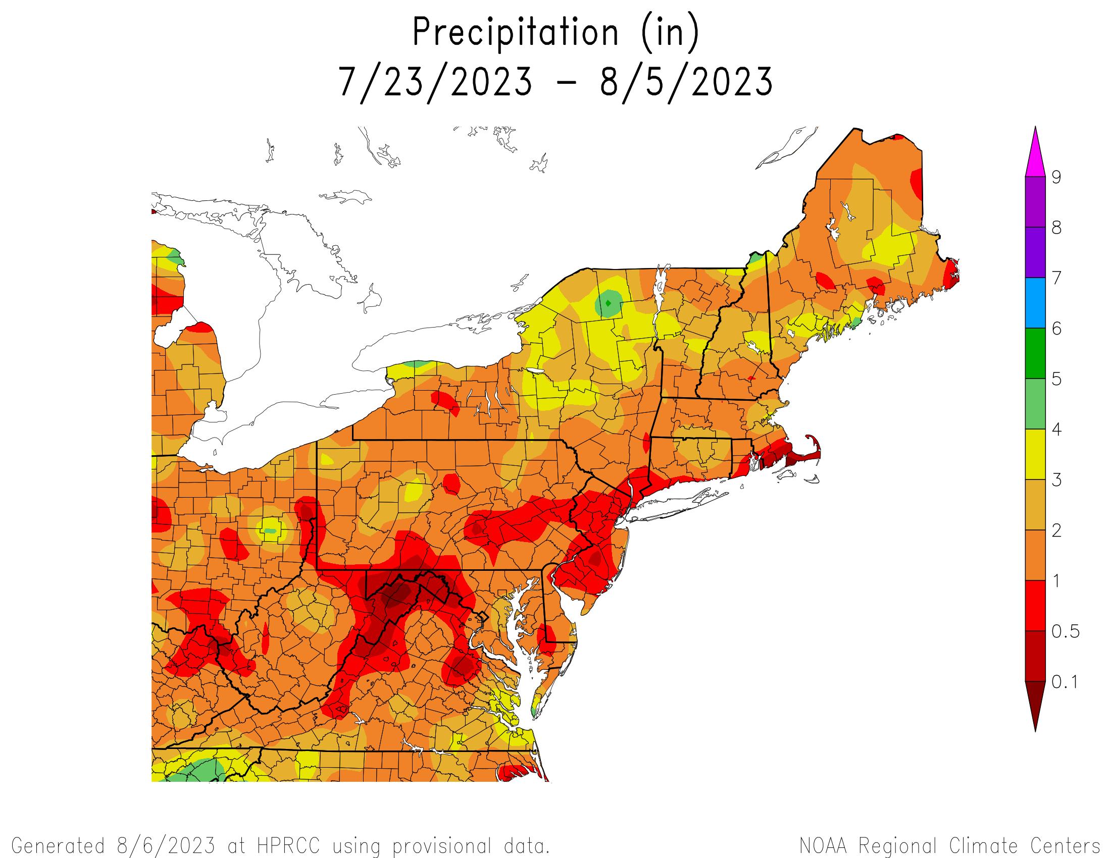 14-Day Total Precipitation