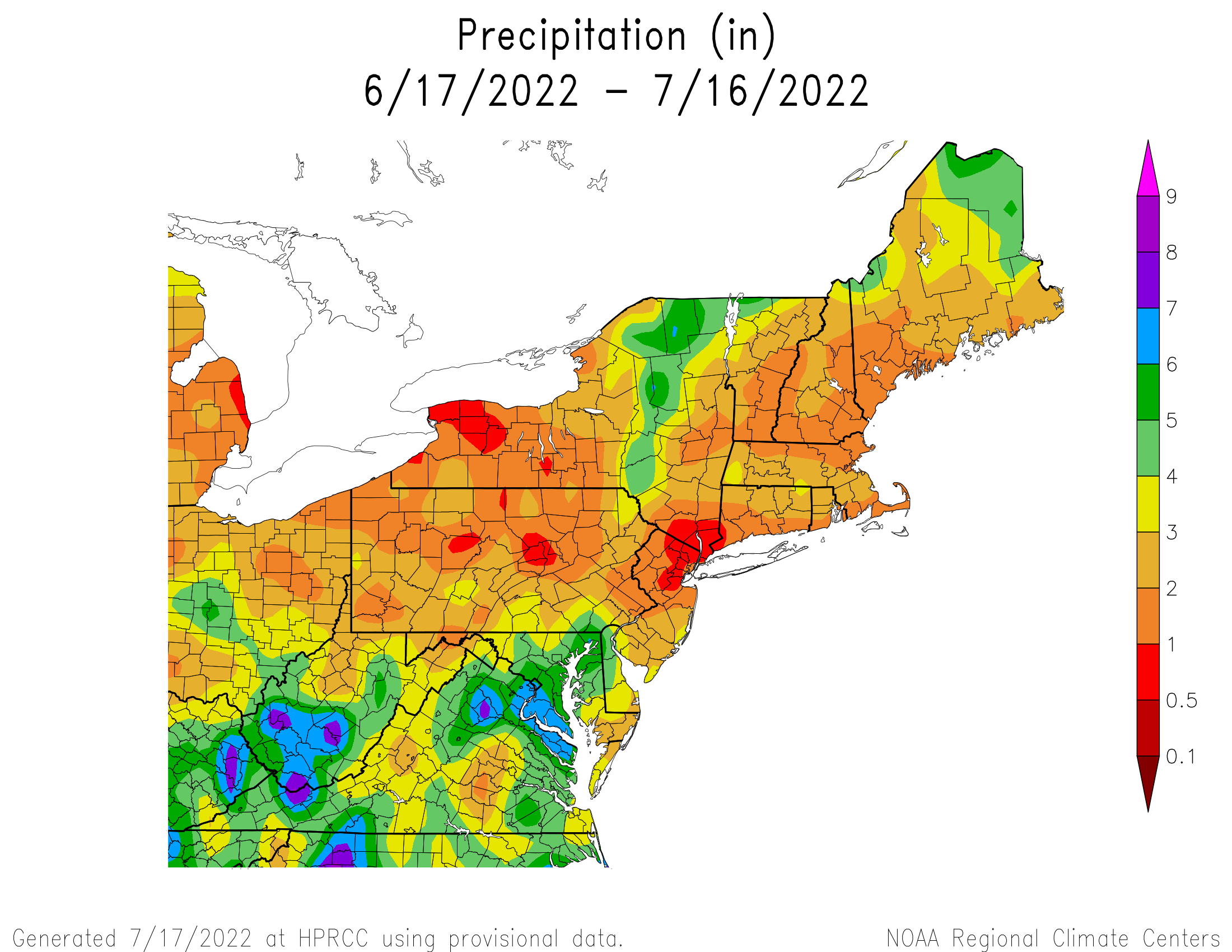 30-Day Total Precipitation