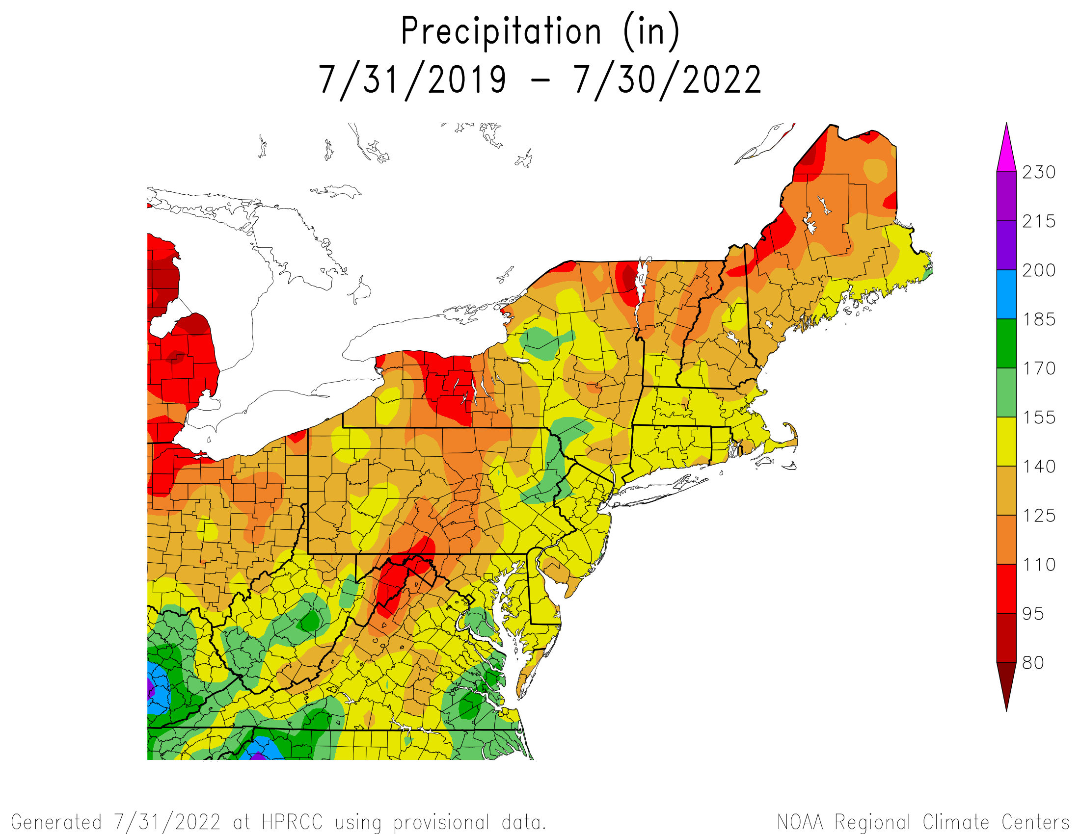36-Month Total Precipitation