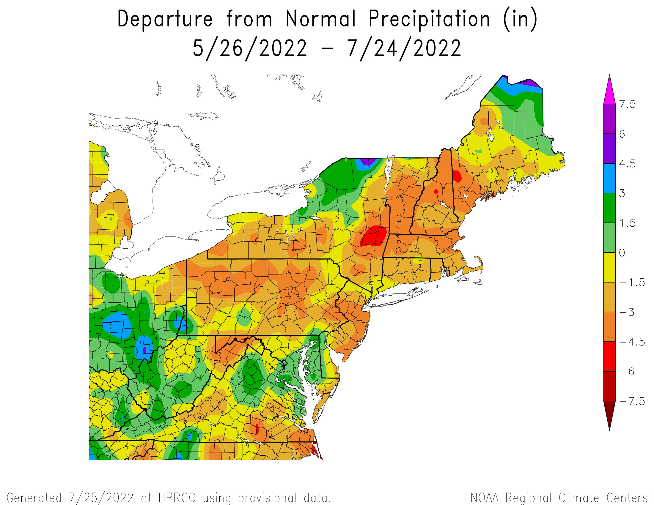 60-Day Total Precipitation Departure