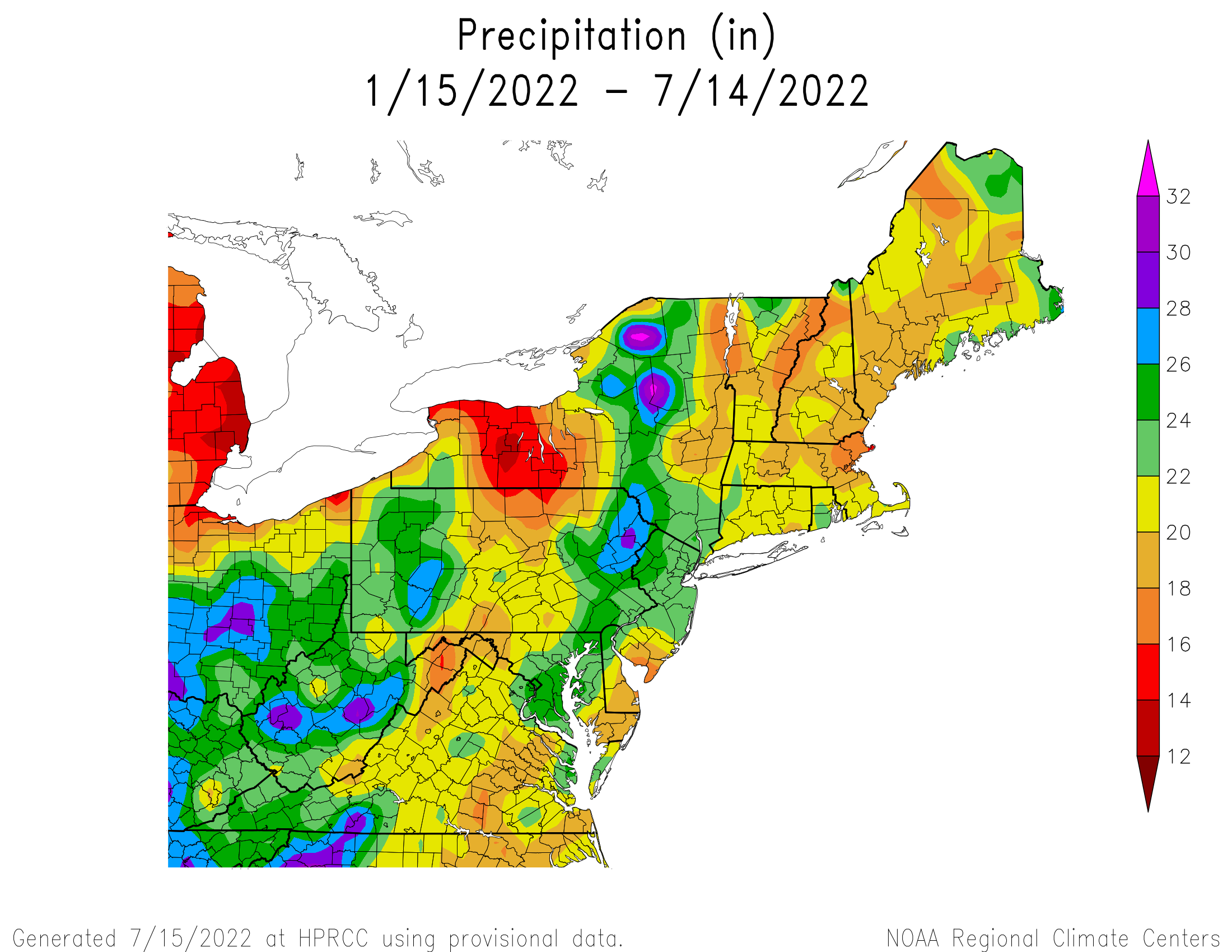 6-Month Total Precipitation