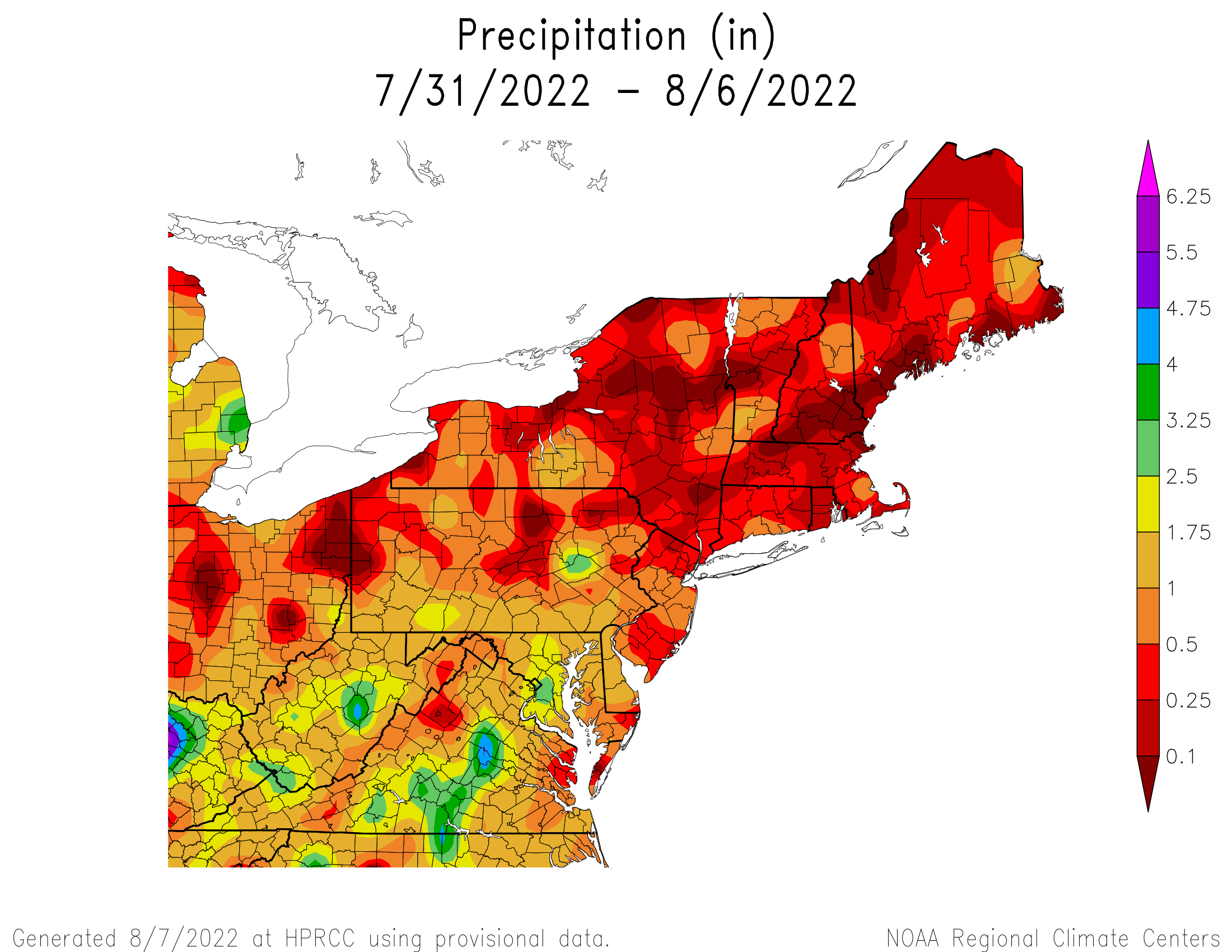 7-Day Total Precipitation