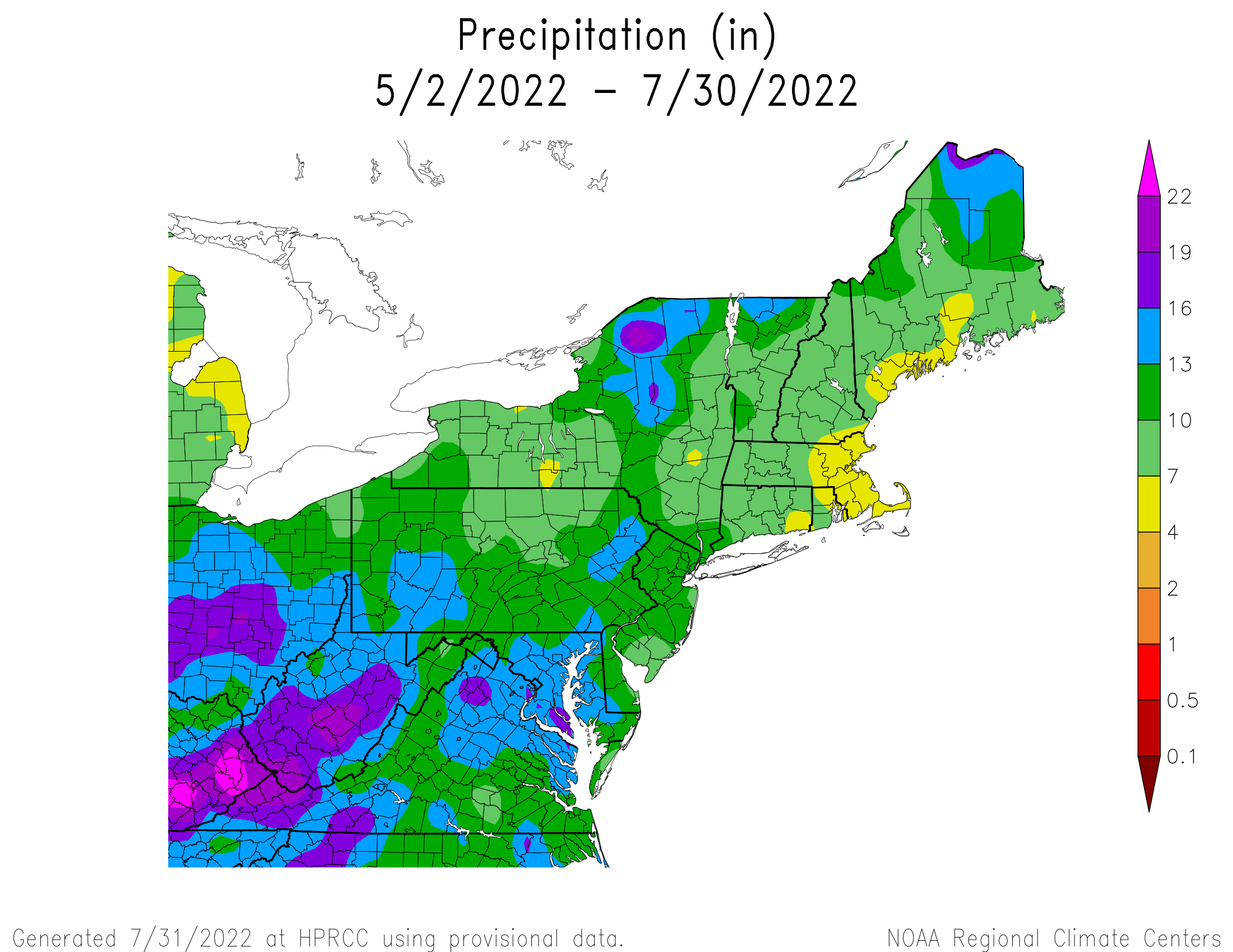 90-Day Total Precipitation
