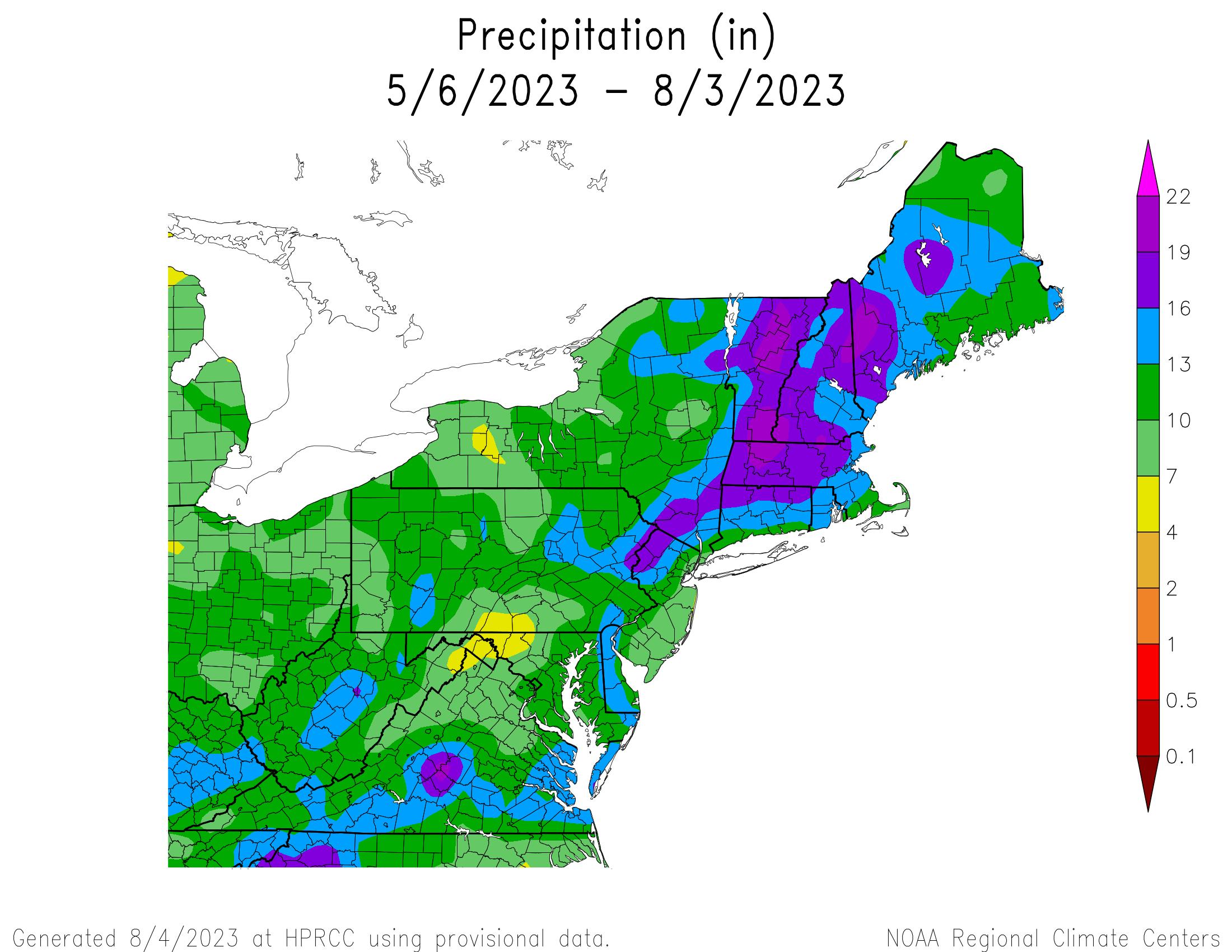 90-Day Total Precipitation
