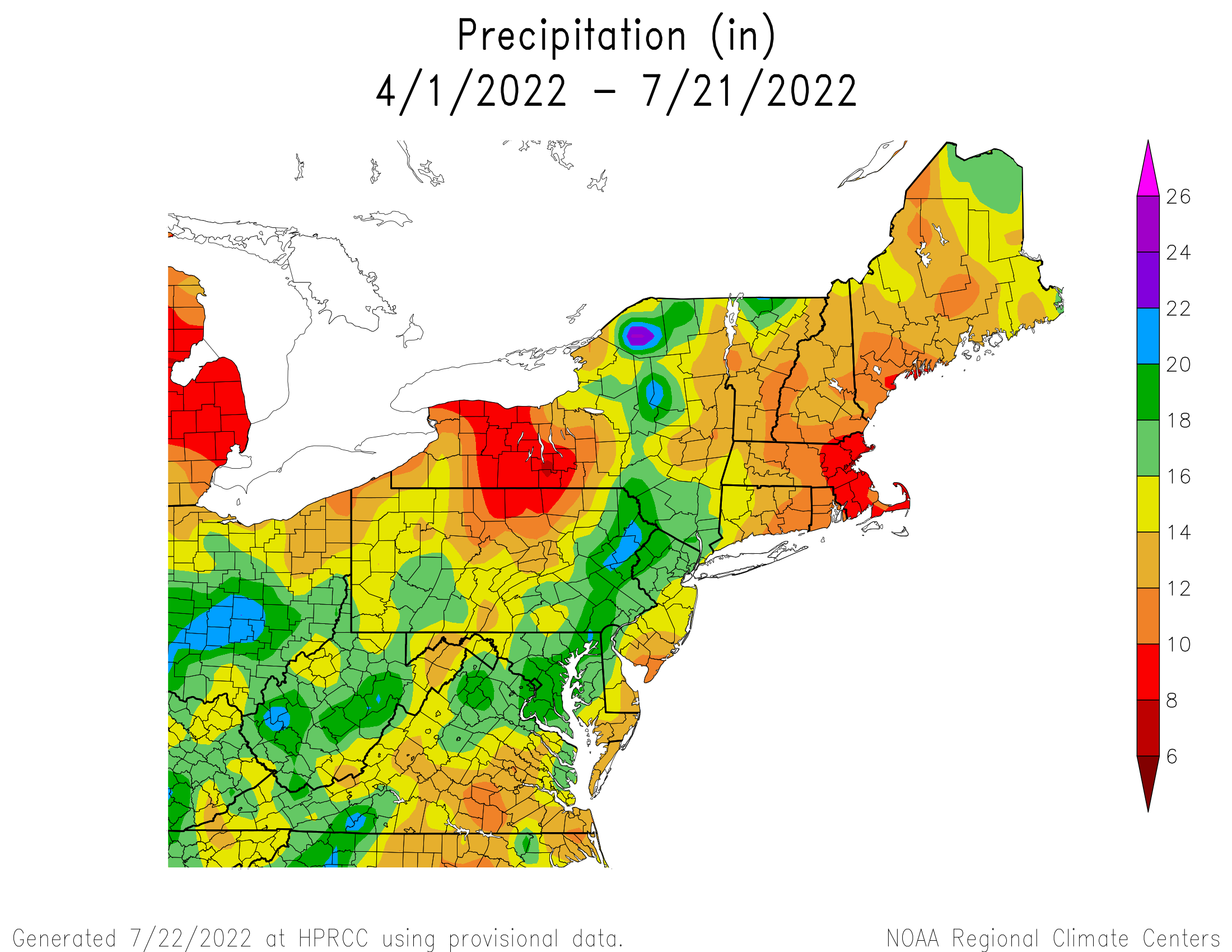Total Precipitation since April 1st