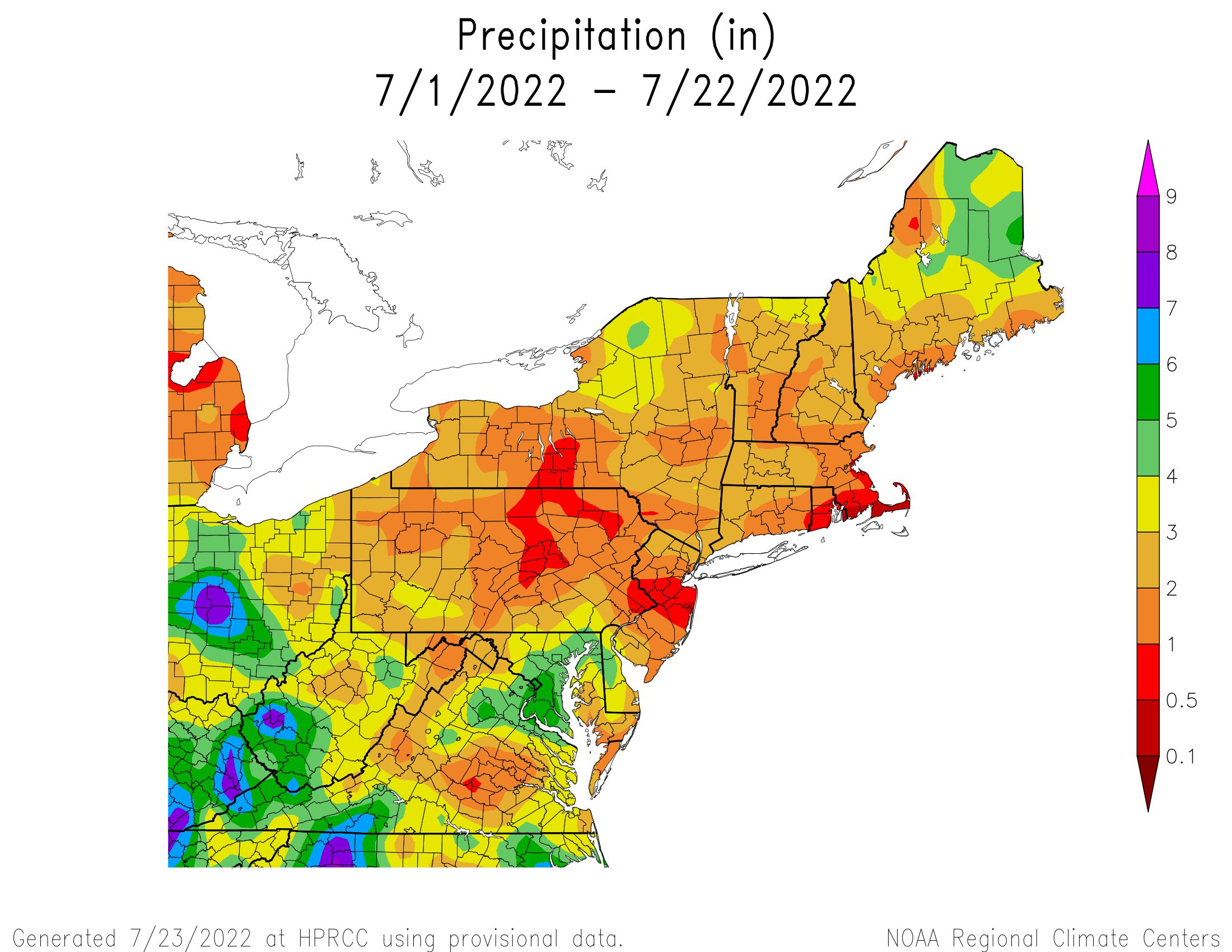 Month-to-Date Total Precipitation