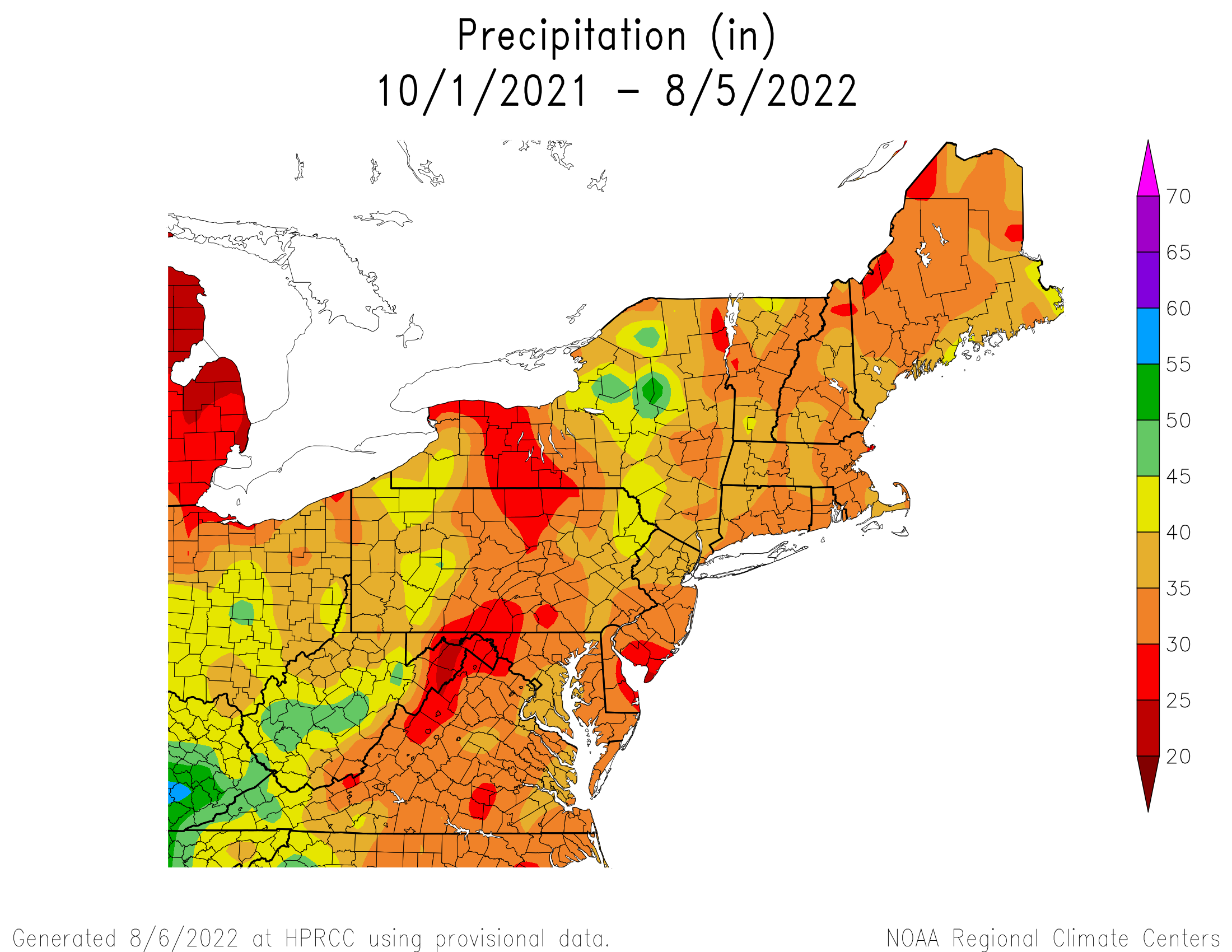 Water-Year Total Precipitation