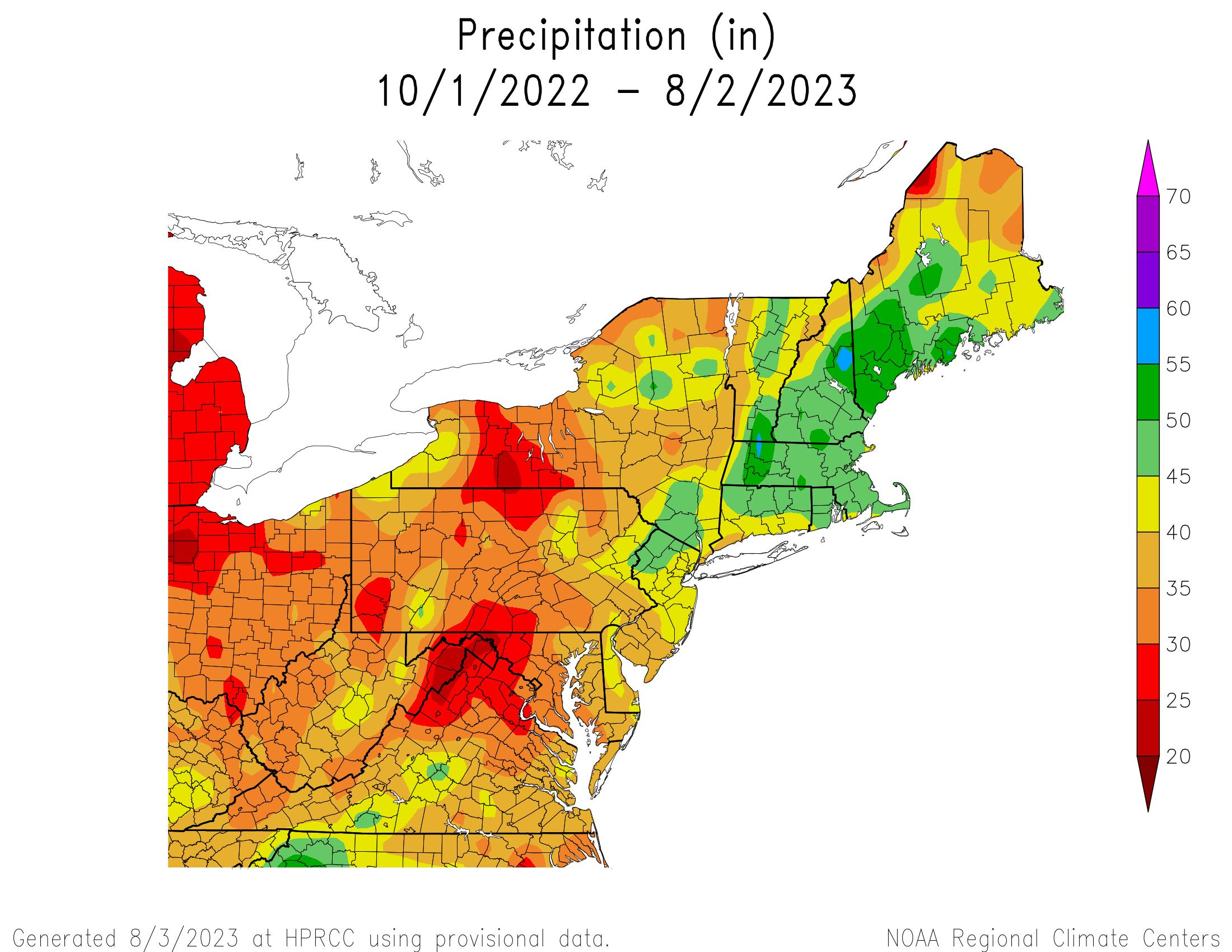 Water-Year Total Precipitation