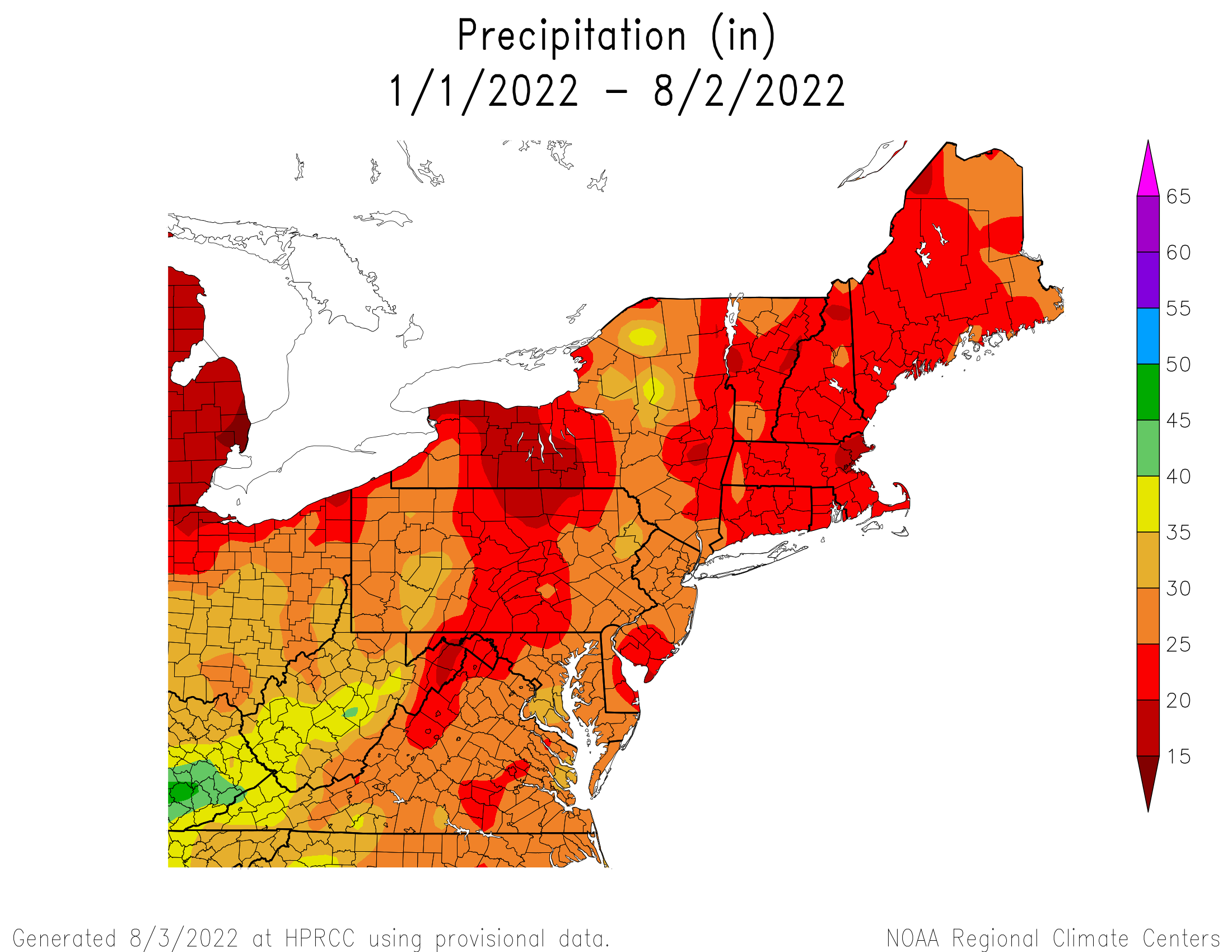 Year-to-Date Total Precipitation