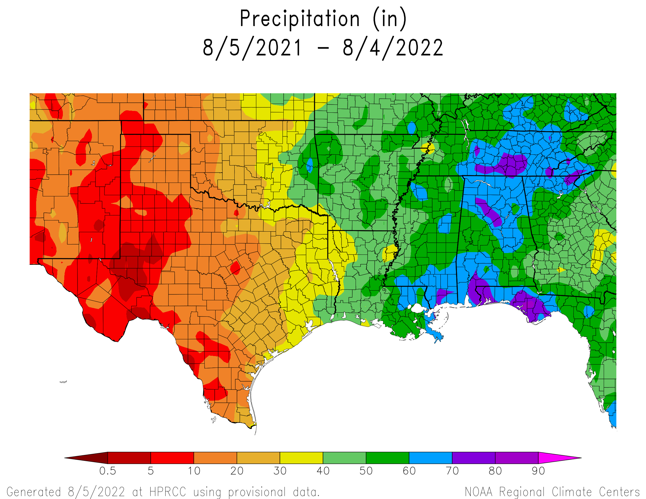 1-year Precipitation