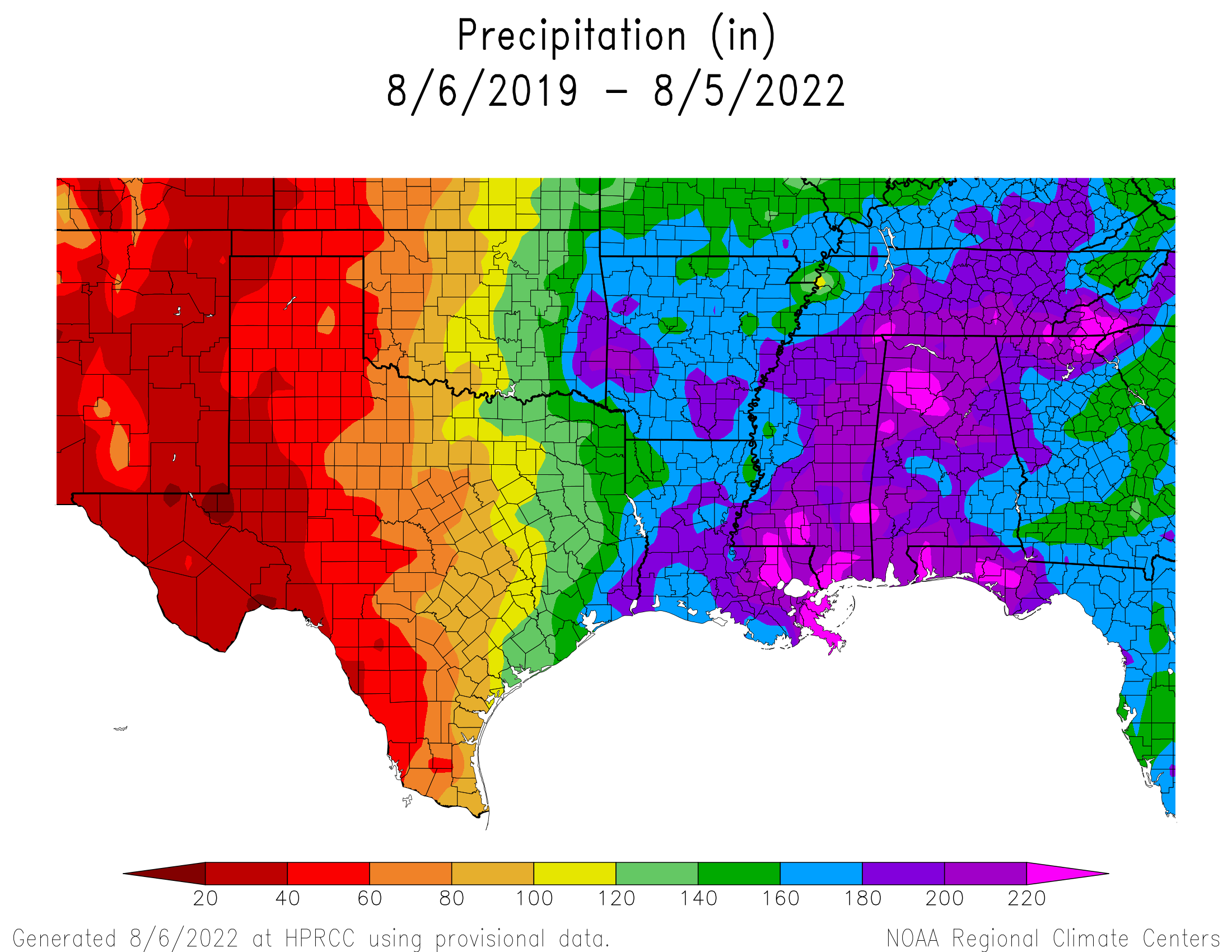 3-year Precipitation
