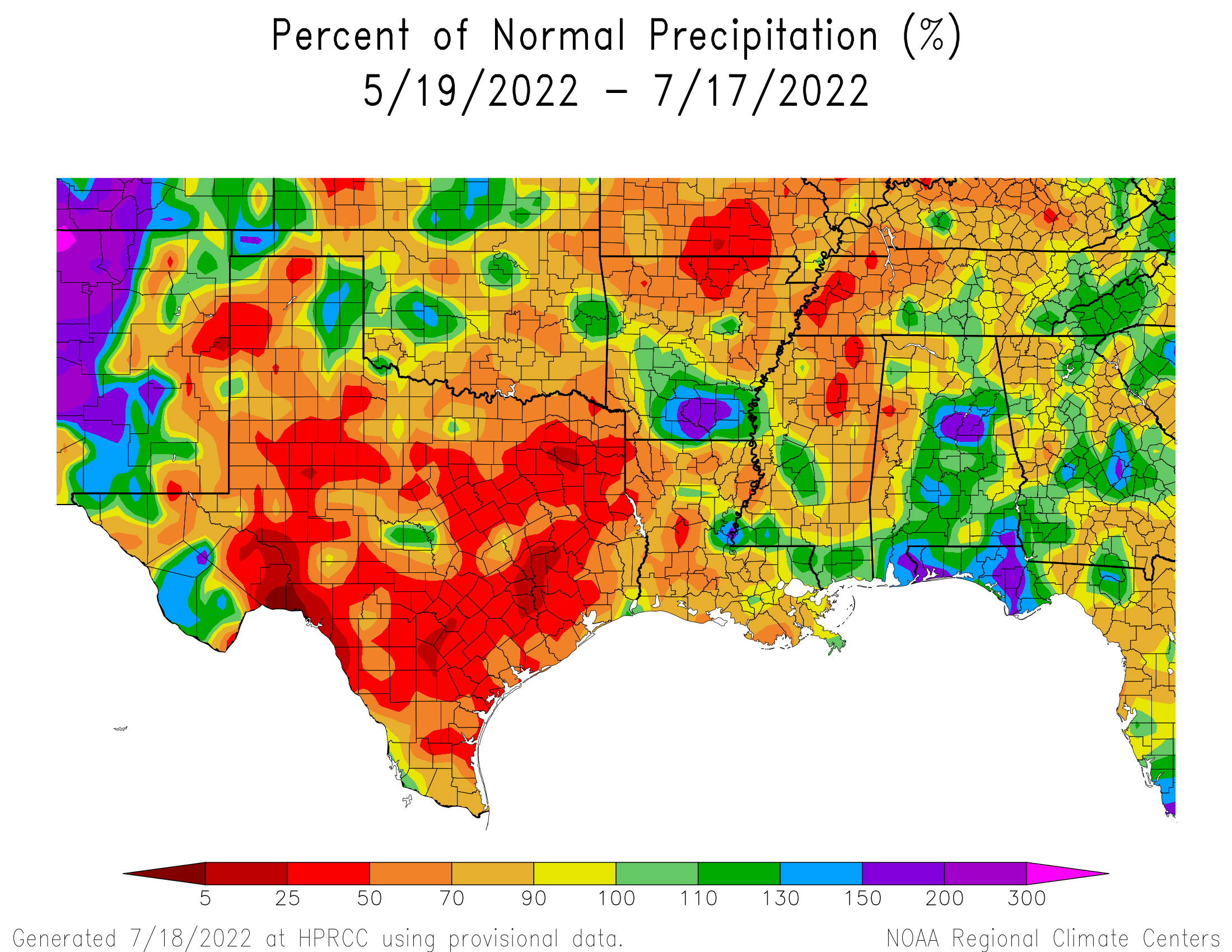60-day Precipitation Percent of Normal