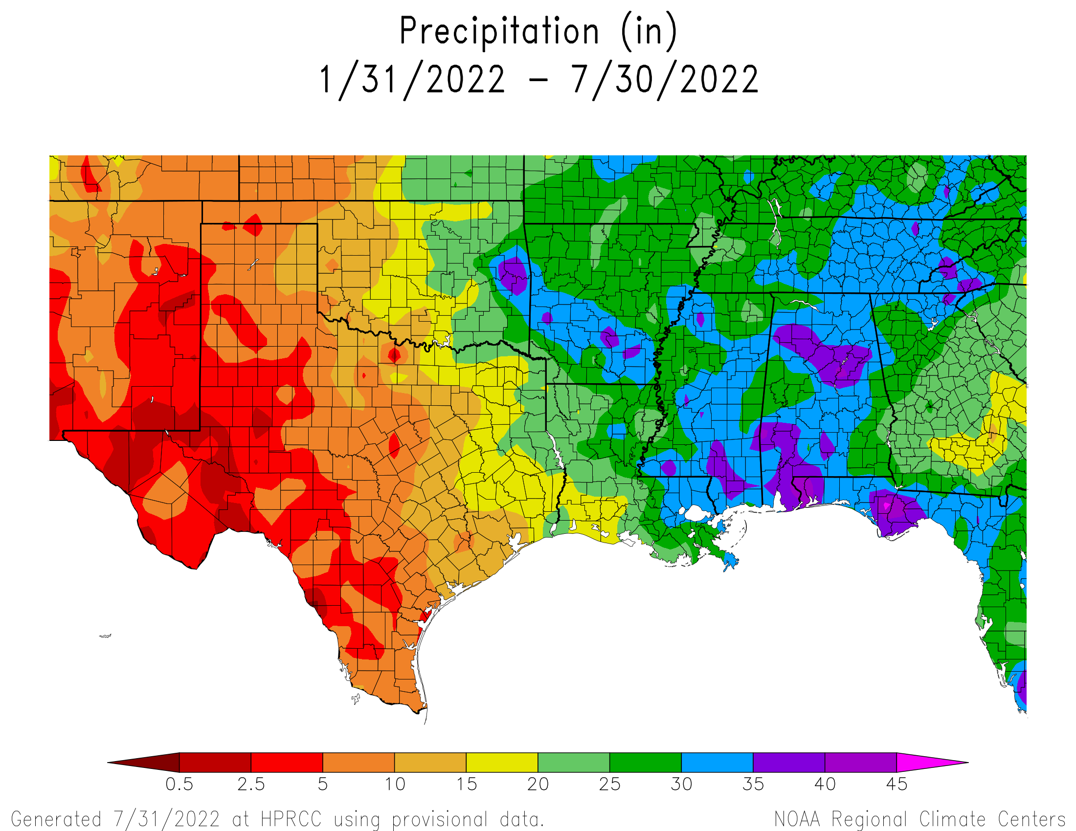 6-month Precipitation