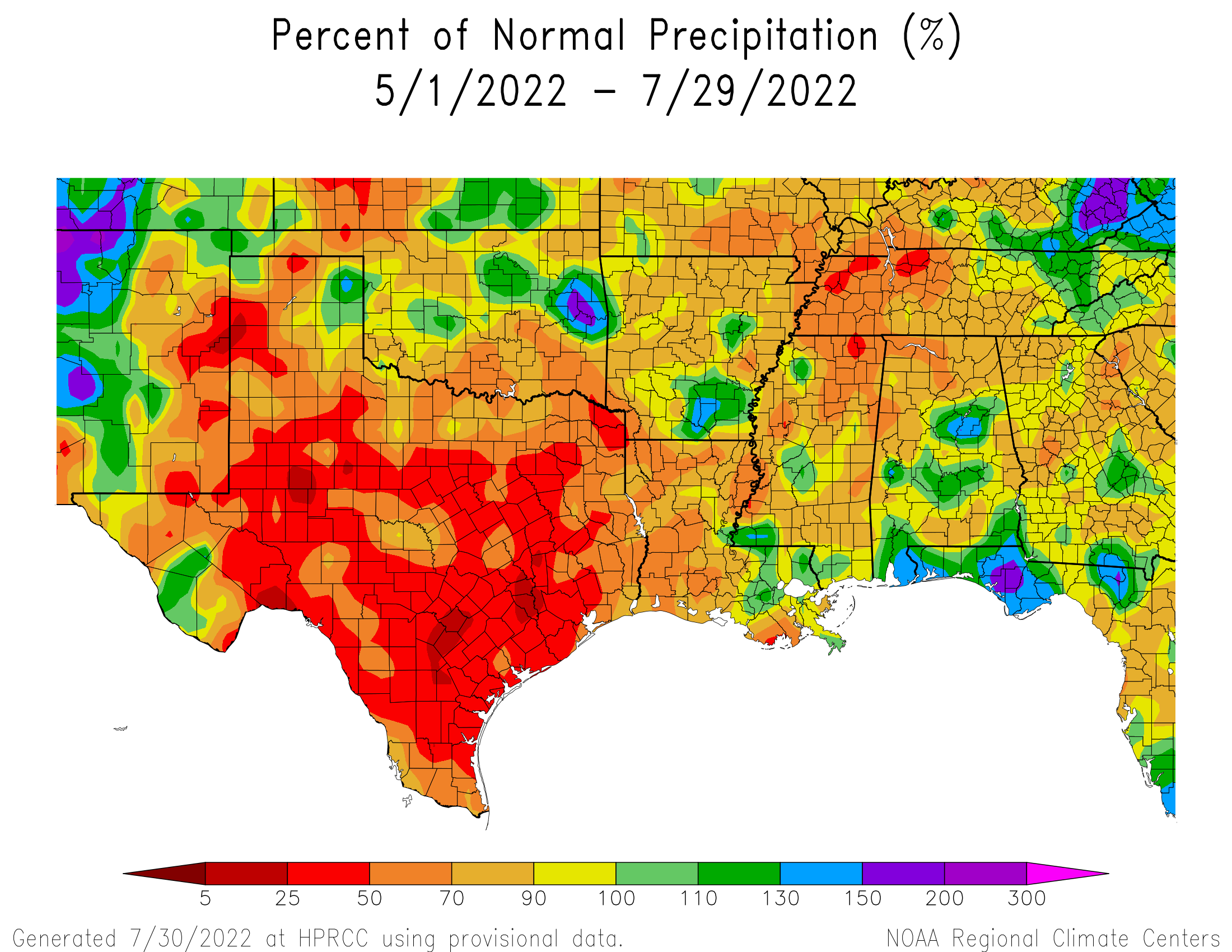 90-day Precipitation Percent of Normal