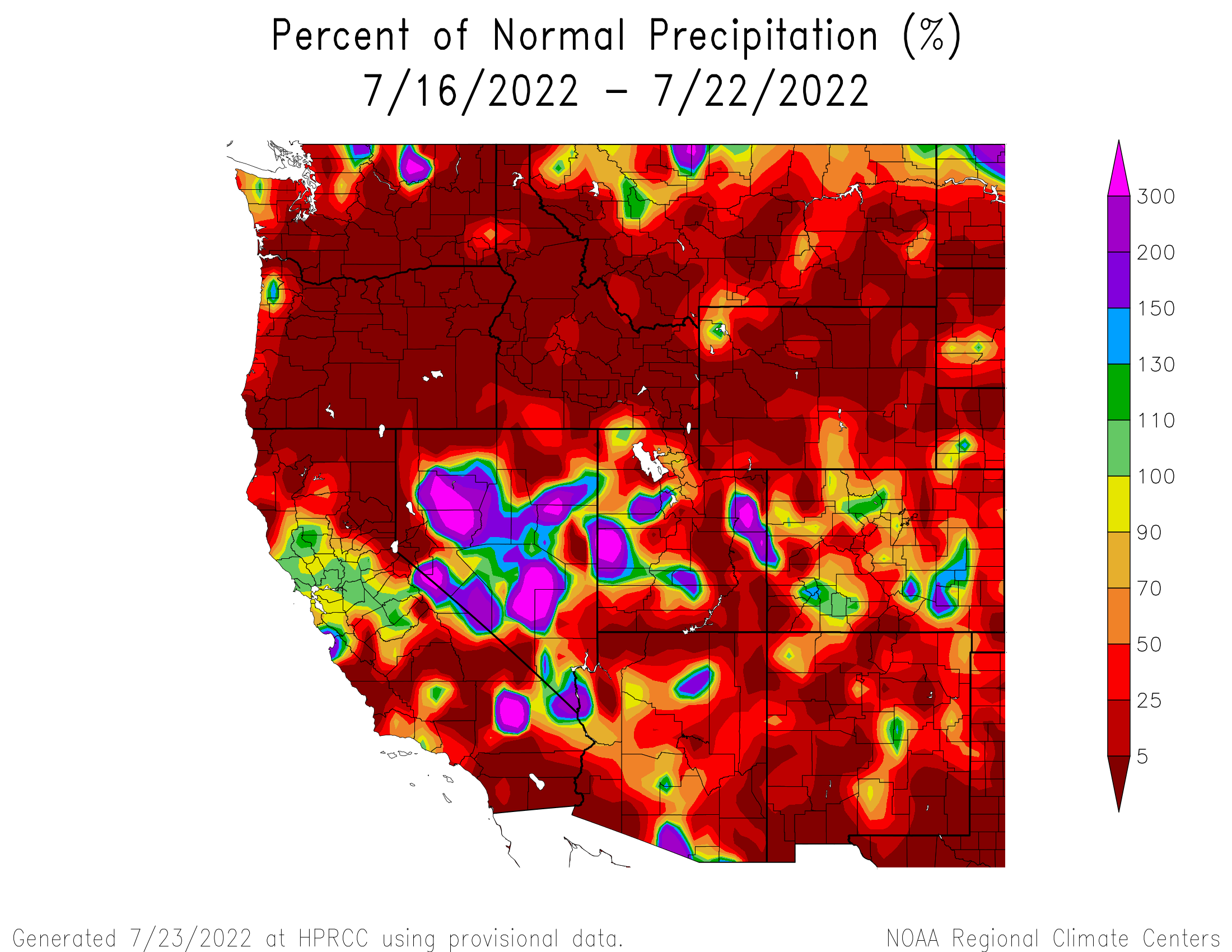7-day Precipitation Anomaly - West