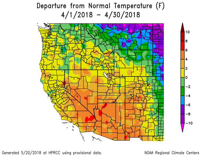30-day Temperature Anomaly