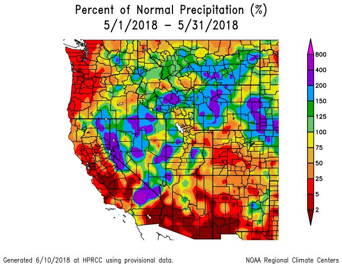 Western US Seasonal Precipitation