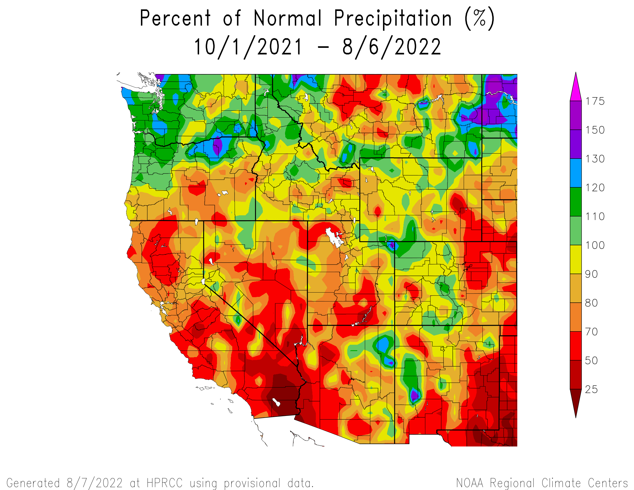 Water Year Precipitation Anomaly